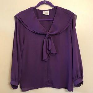 Grape purple cape blouse